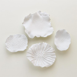 Maitake Wall Decor - Curled - Soft White