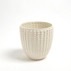 Nail Head Bowl - Rustic White