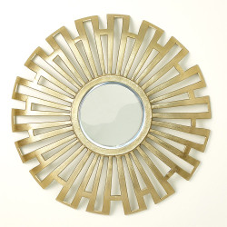 Radial Cut - Out Mirror - Antique Brass