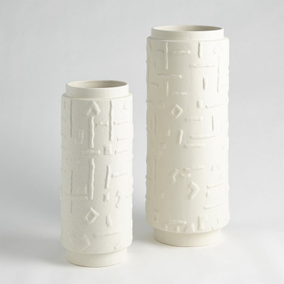 Sankuru Vase - Rustic White - Lg