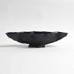 Serpentine Lime Bowl - Matte Black