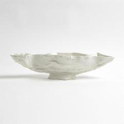 Serpentine Lime Bowl - Matte White
