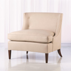 Severn Lounge Chair - Beige Leather