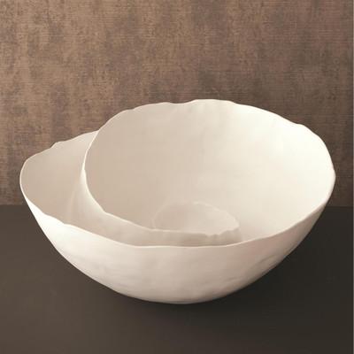 Spiral Bowl - Matte White