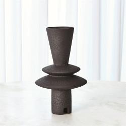 Adelyn Geometric Vase - Black