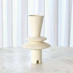 Adelyn Geometric Vase - White