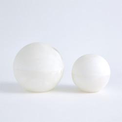 Alabaster Sphere Box - White - Lg