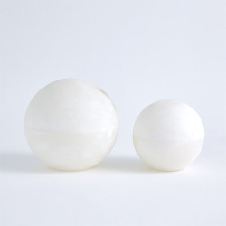 Alabaster Sphere Box - White - Sm