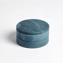 Alabaster Swivel Box - Blue