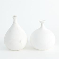 Alabaster Teardrop Vase