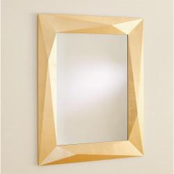 Angular Mirror - Gold Leaf