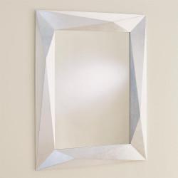 Angular Mirror - Silver Leaf