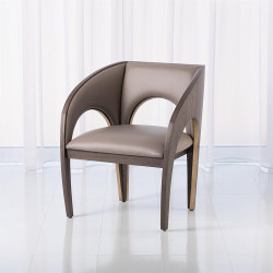Arches Occasional Chair - Grey Leather