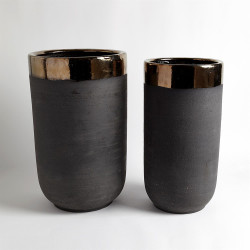 Banded Bronze Container - Lg