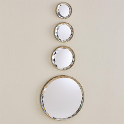Banded Crystal Wall Decor - Brass - Sm