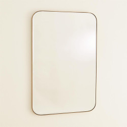 Banded Mirror - Brass