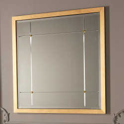 Beaumont Square Mirror - Gold Leaf