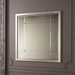 Beaumont Square Mirror - Silver Leaf