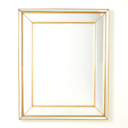 Bevel on Bevel Mirror - Gold Leaf