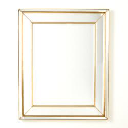 Bevel on Bevel Mirror - Gold Leaf