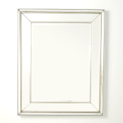 Bevel on Bevel Mirror - Silver Leaf