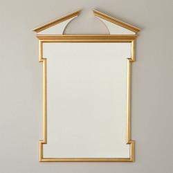 Broken Pediment Mirror - Gold Leaf