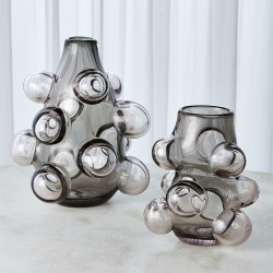 Bubbled Vase - Smoke Grey - Lg