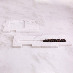 Caillois Tray - White Marble - Long