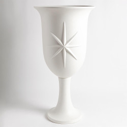 Compass Rose Urn - Matte White