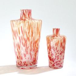 Confetti Shoulder Vase - Red/Beige - Sm
