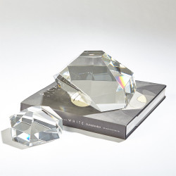 Crystal Paper Weight - Clear - Sm