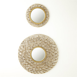 Curly Mirror - Antique Gold - Lg