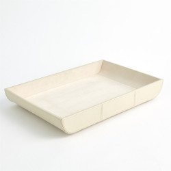 Curved Corner Tray - Ivory
