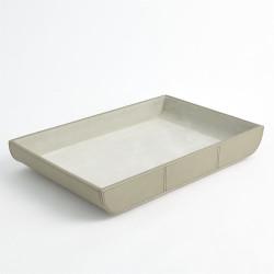 Curved Corner Tray - Light Grey