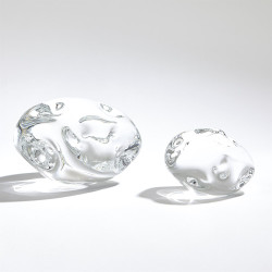 Dimple Paperweight - Clear - Lg