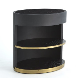 Ellipse Bedside Cabinet - Black
