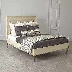 Ellipse Queen Bed - Ivory