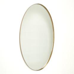Elongated Oval Mirror - Brass - Lg