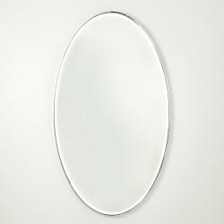 Elongated Oval Mirror - Nickel - Lg