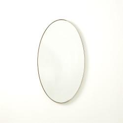 Elongated Oval Mirror - Nickel - Sm