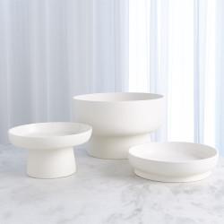 Encircle Low Bowl - Chalk