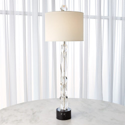 Facette Lamp W/Black Marble Base
