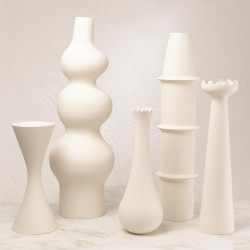 Fenouil Vase - Matte White