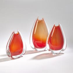 Fin Vase - Cinnabar - Sm