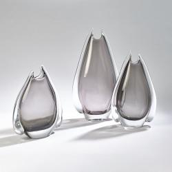 Fin Vase - Grey - Med
