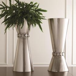Flip Flop Nugget Vase - Nickel