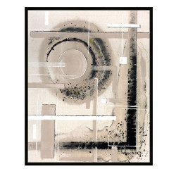 Framed Printed Canvas - Modernist - Moon