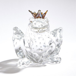 Frog Prince - Clear w/Bubbles