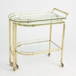 Gallery Folding Bar - Shiny Brass