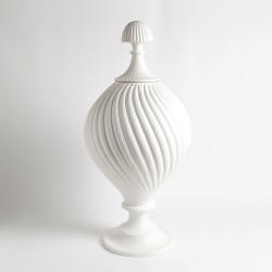 Grande Swirl Jar - Matte White
